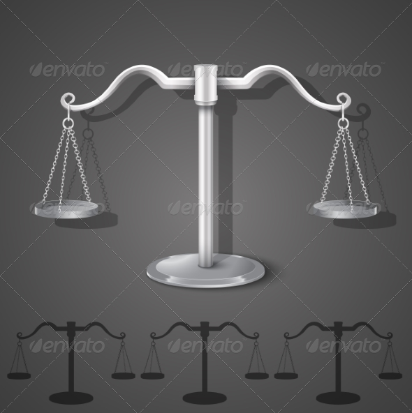 GraphicRiver Metal Balance Scales 6848121