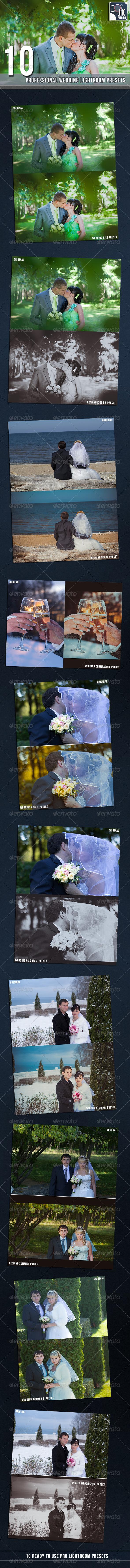 GraphicRiver 10 PRO Lightroom Presets Wedding 6848151