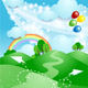 Spring Background with Rainbow - GraphicRiver Item for Sale