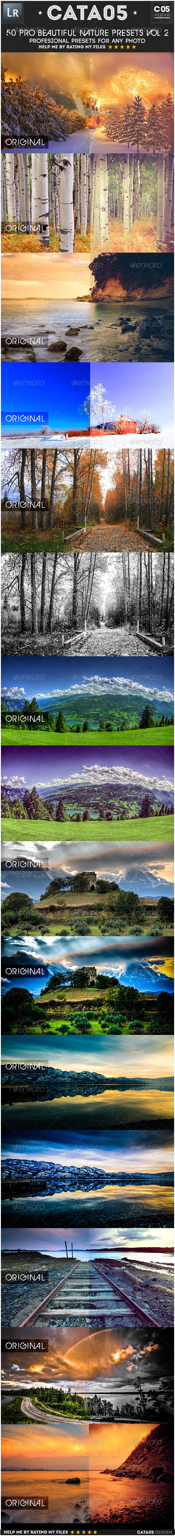 GraphicRiver 50 Pro Beautiful Nature Presets Vol 2 6848688