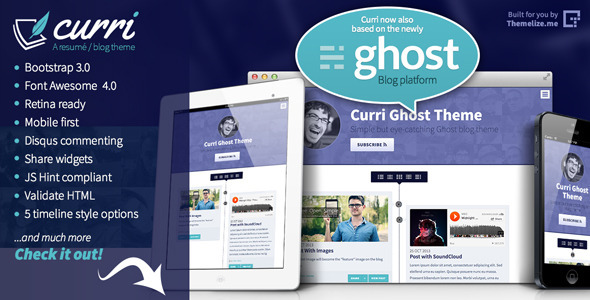 Curri Ghost Theme - Ghost Themes Blogging