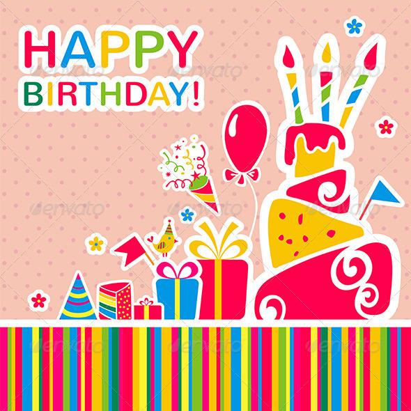 GraphicRiver Happy Birthday Background Greeting Card 6848890