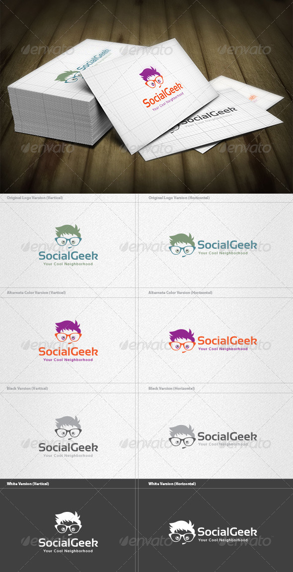 GraphicRiver Social Geek Logo 6849732