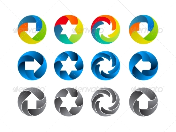 GraphicRiver Abstract Color Icon Set 6850361
