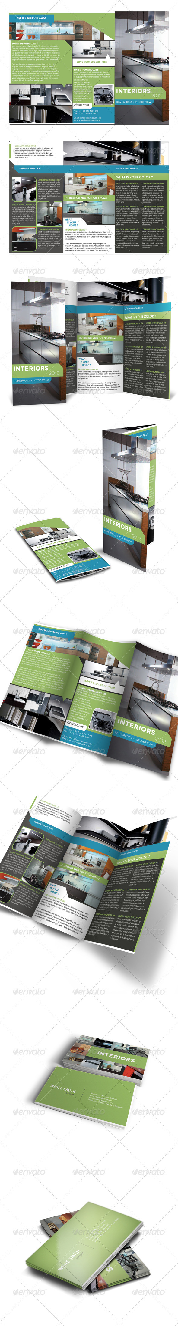 GraphicRiver Trifold Brochure & Business Card 715518