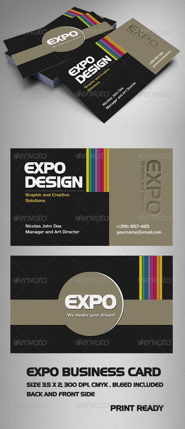 Expo Business Card - Creative Business Cards