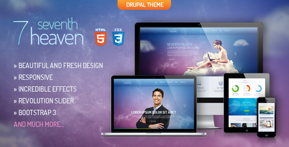 ThemeForest Heaven Creative&Unique Drupal Theme 6836466