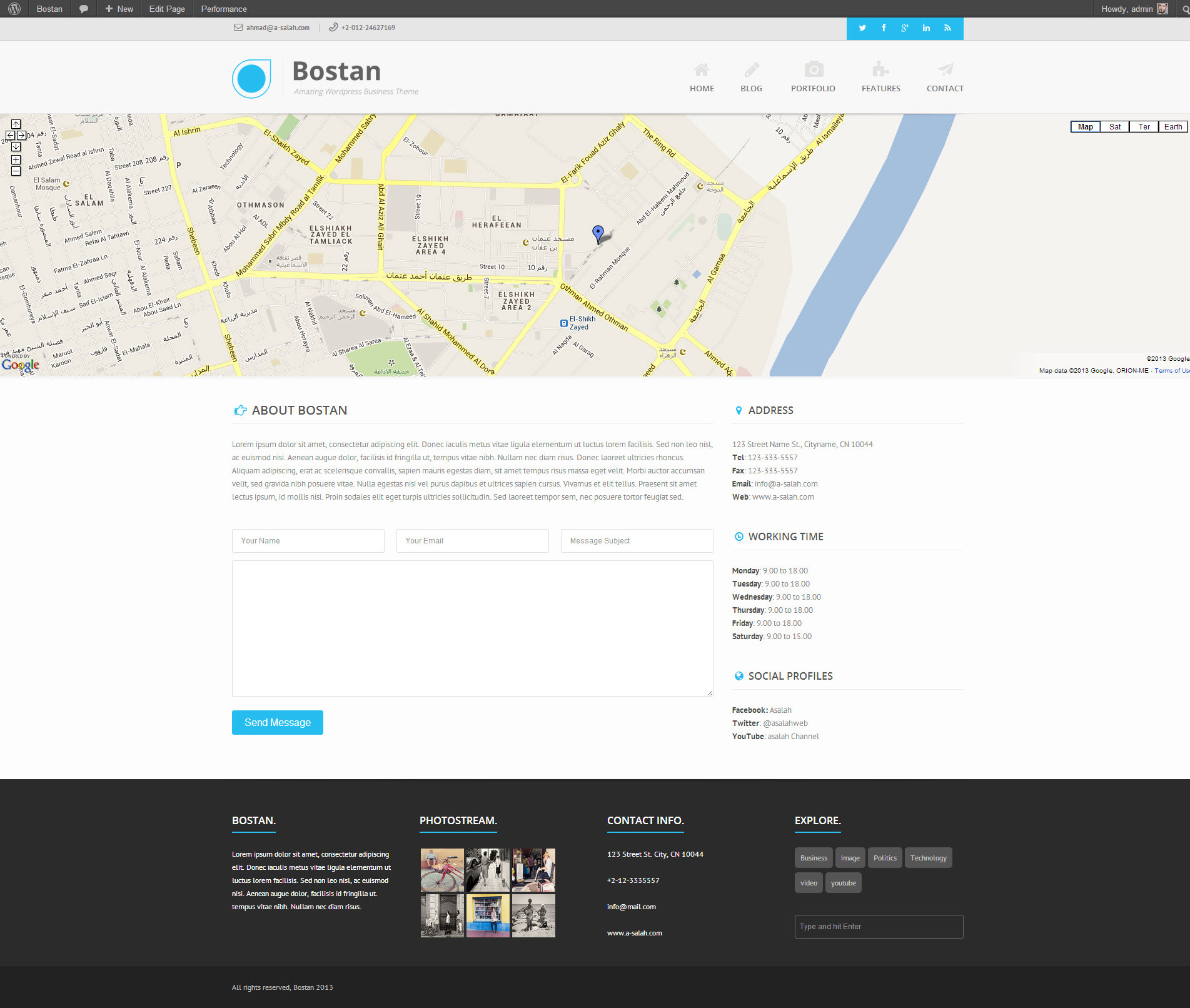 Bostan - Retina Responsive Multi-Purpose Theme