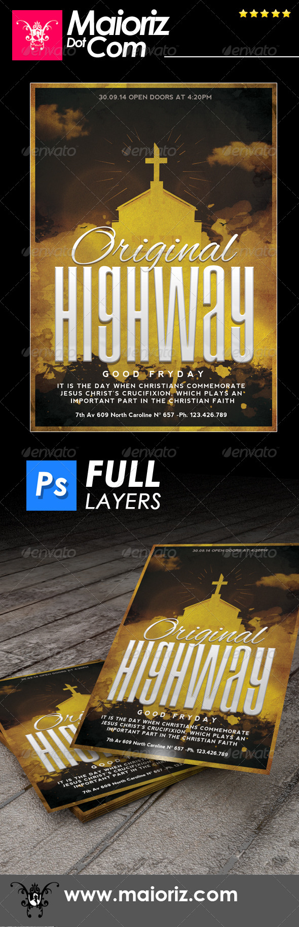 GraphicRiver Original Highway Cristian Flyer 6851293