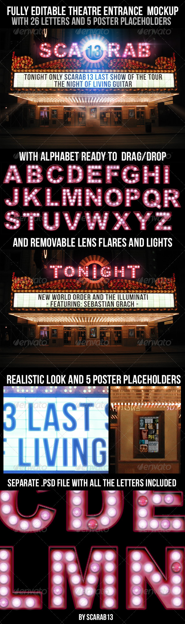 GraphicRiver Realistic Looking Editable Theatre Mockup 6851306