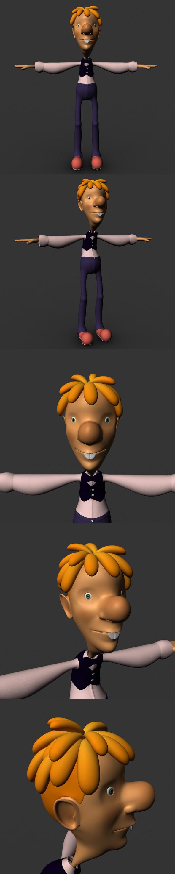 3DOcean Cartoon Character Model 6851936