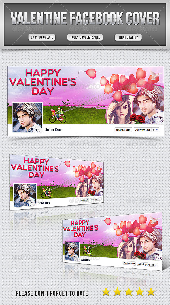 GraphicRiver Valentine Facebook Cover 6852735