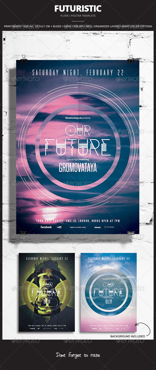 GraphicRiver Futuristic Flyer Poster 6 6852755