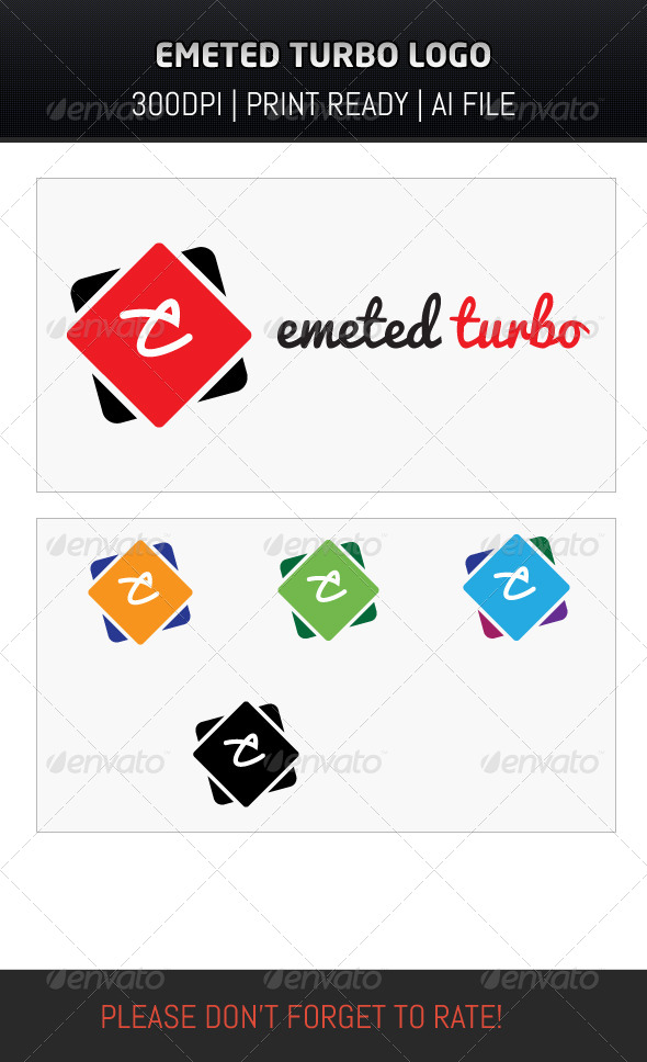 GraphicRiver Emeted Turbo Logo 6853234