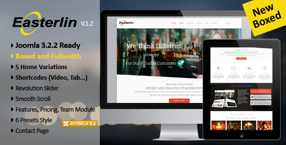 Easterlin - Responsive Joomla Business Template - Corporate Joomla
