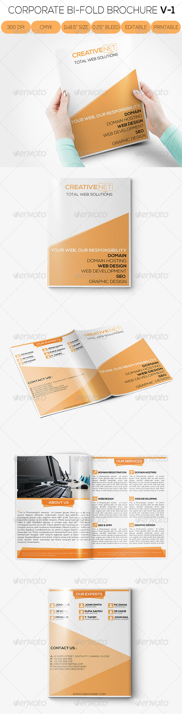 GraphicRiver Web Proposal Bi-Fold Brochure V-1 6854103