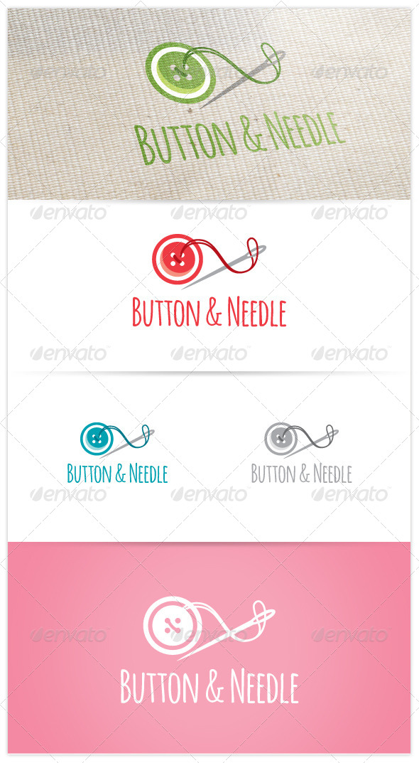 GraphicRiver Button & Needle Logo 6854683