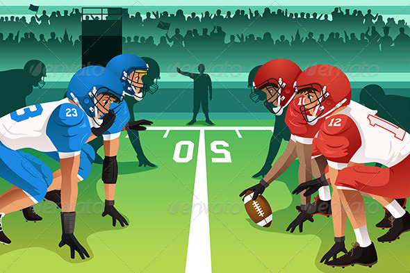 GraphicRiver Football Players in a Match 6854919