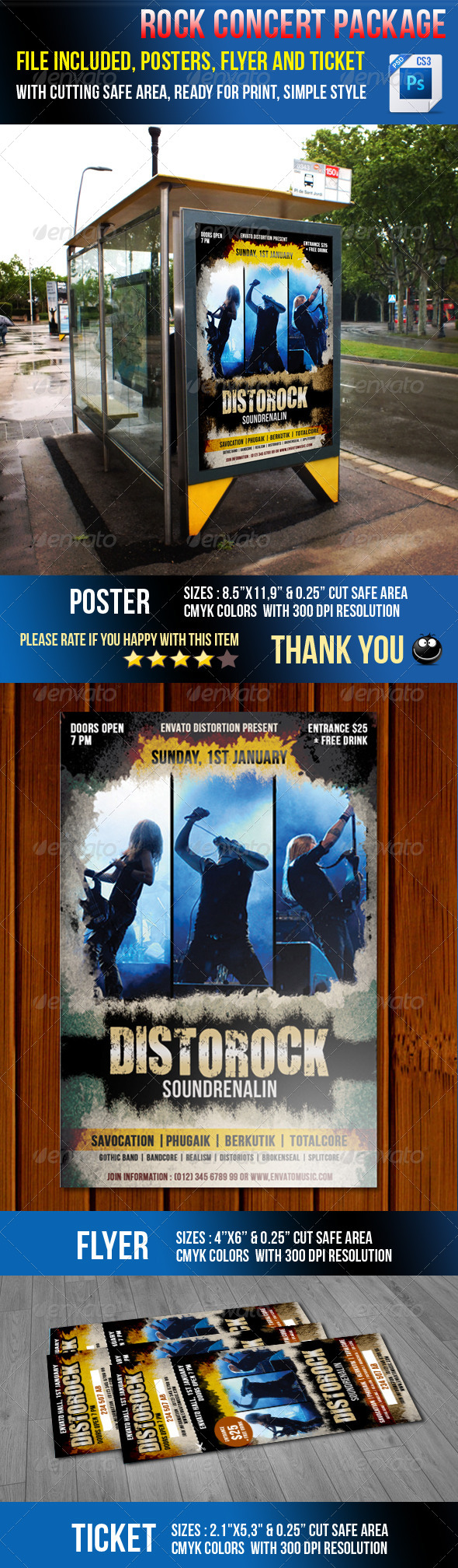 GraphicRiver Rock Concert Package 6854993