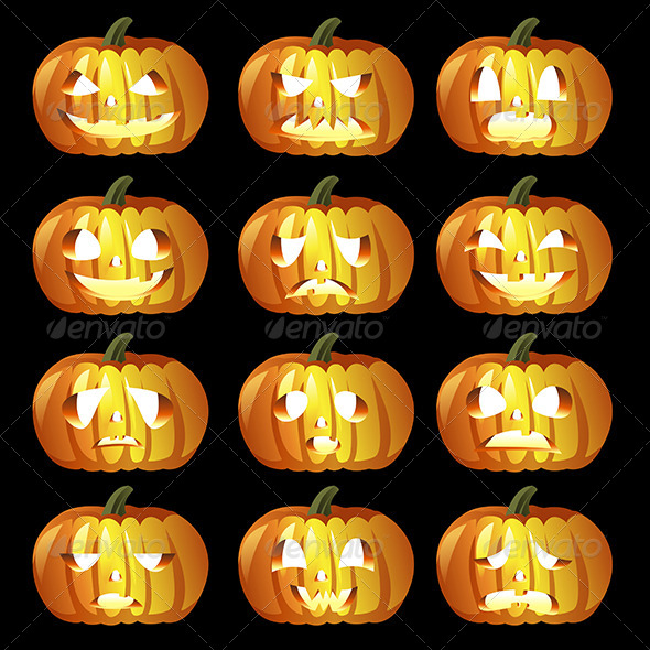 GraphicRiver Halloween Pumpkin Icons 6855384