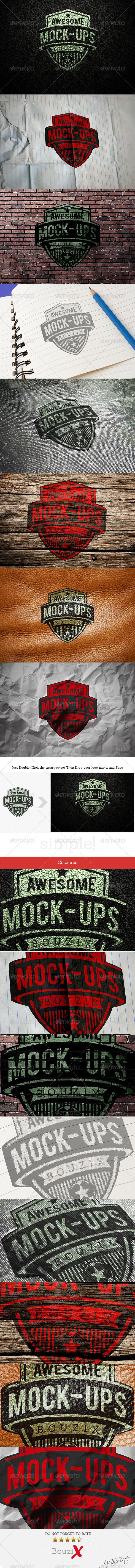 GraphicRiver Photorealistic Logo Mockups V.1 6855523
