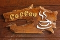 Old retro sign with the text coffee shop. - PhotoDune Item for Sale