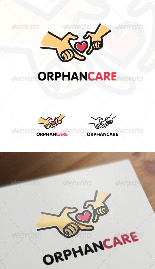GraphicRiver Orphan Care Children & Family Logo 6855618