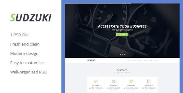 ThemeForest Sudzuki Parallax Business Onepage PSD Template 6855621