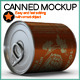 Canned Mock Up - GraphicRiver Item for Sale