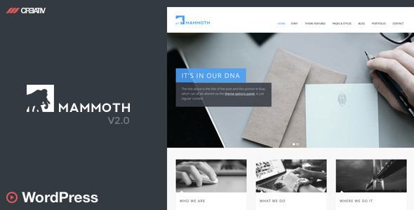 Mammoth - Responsive WordPress - Corporate WordPress