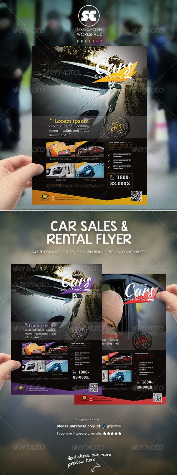 GraphicRiver Car Sales Rental Flyer Magazine Ads 6856106