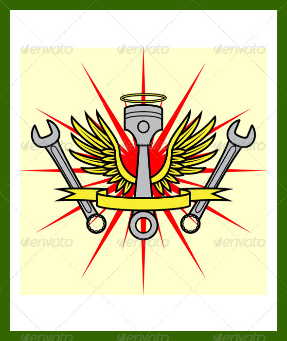 GraphicRiver Angel Emblem 6856146