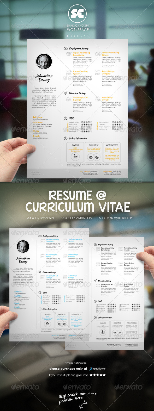 GraphicRiver Clean & Modern Resume CV 6856155