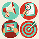 Flat Business Icons - Advertising and Marketing - GraphicRiver Item for Sale
