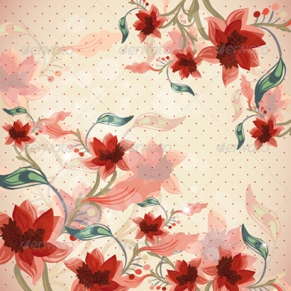 GraphicRiver Beautiful Floral Background 6856790