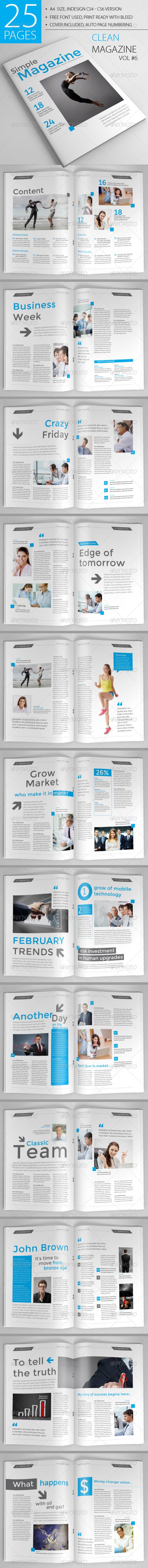GraphicRiver 25 Pages Clean Magazine Vol6 6847207