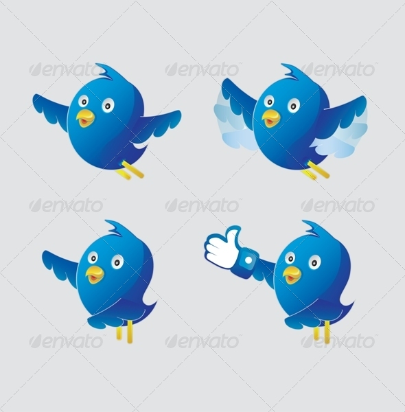 GraphicRiver Funny Twitter Characters 6856938