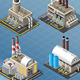 Set of Energy Industries Buildings - GraphicRiver Item for Sale