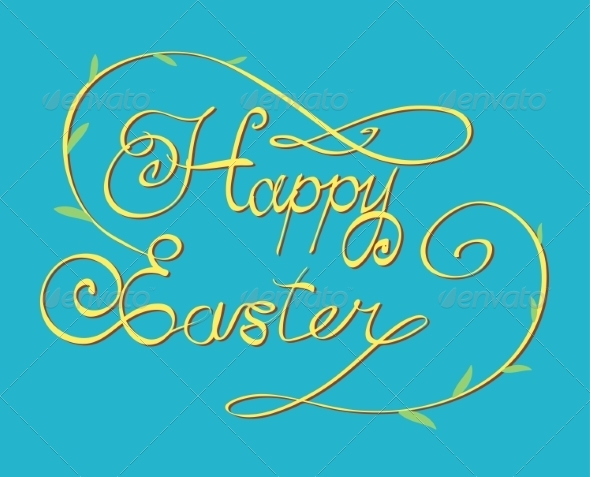 GraphicRiver Happy Easter Lettering 6858049