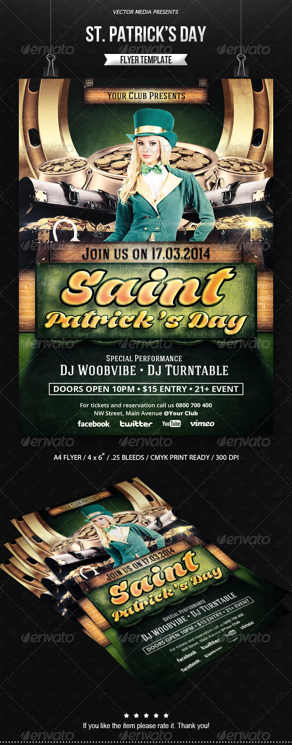 GraphicRiver Saint Patrick s Day Flyer 6858187