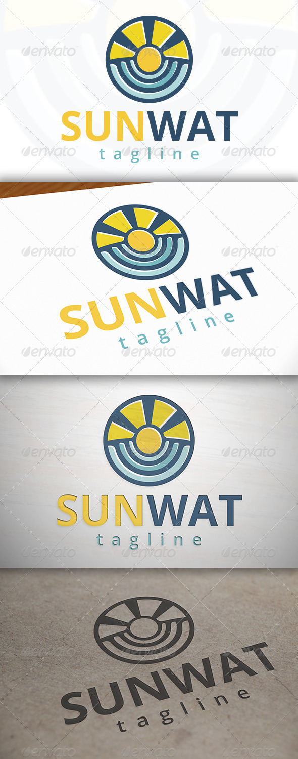GraphicRiver Sun Water Logo 6858342