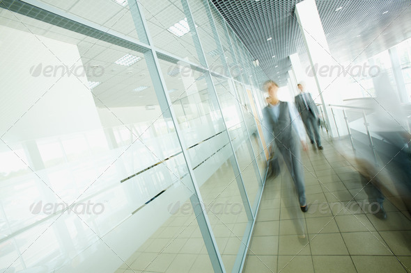 Businesspeople walking - Stock Photo - Images