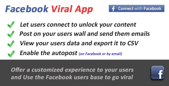 Facebook Viral and Marketing Social App - CodeCanyon Item for Sale