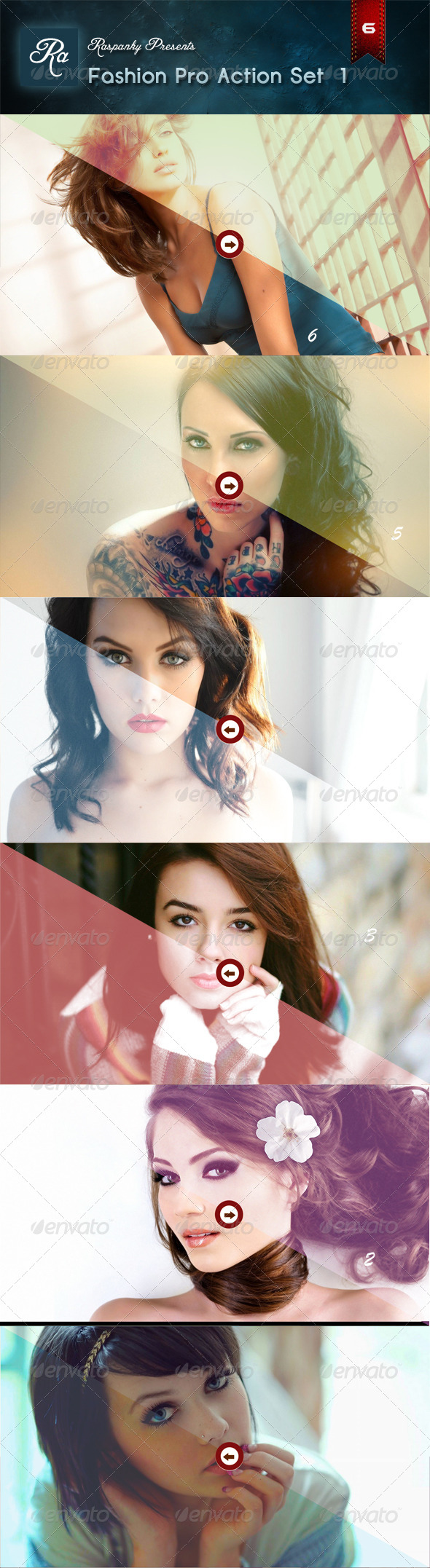GraphicRiver Fashion Pro Action Set 1 6859434