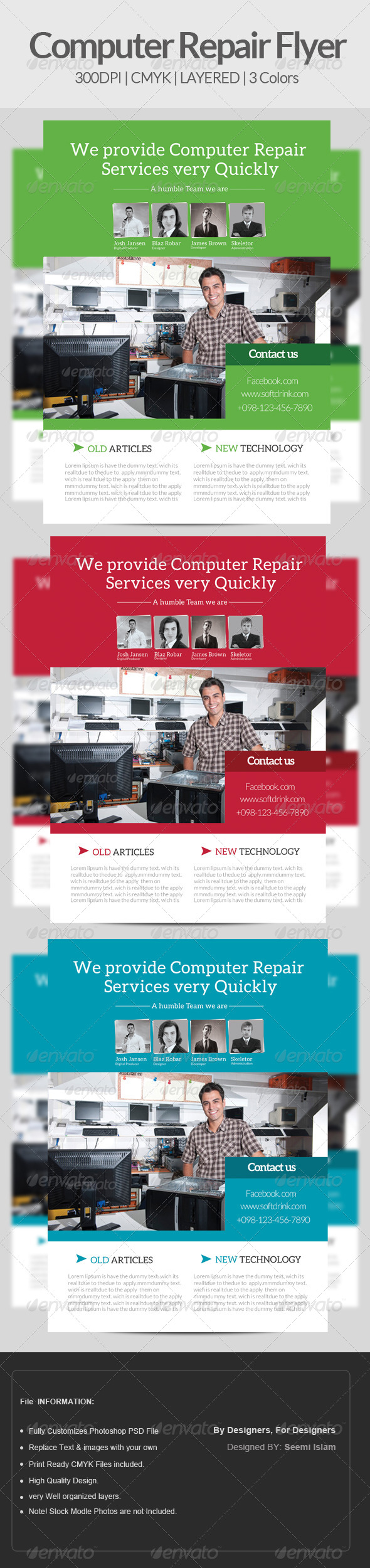 GraphicRiver Computer Repair Flyer Template 6851371