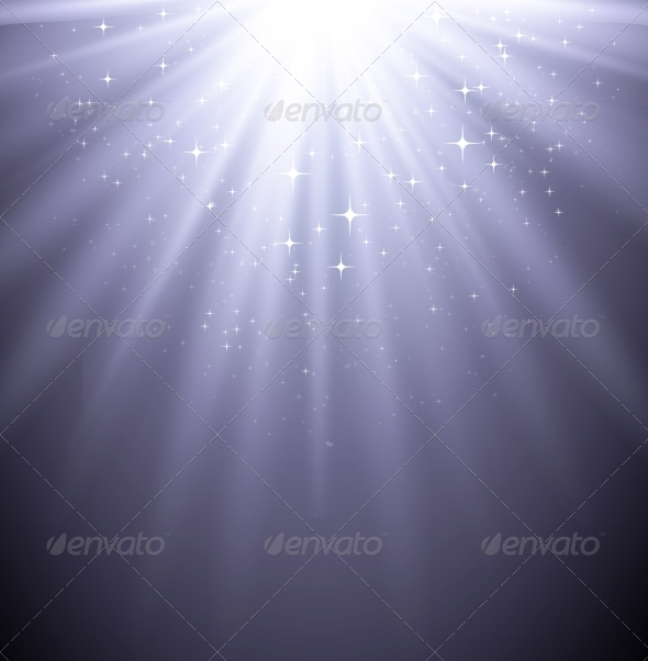 GraphicRiver Abstract Magic Light Backgroud with Star 6859809
