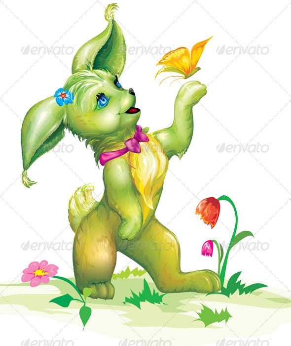 GraphicRiver Animal Cartoon Character 6860035