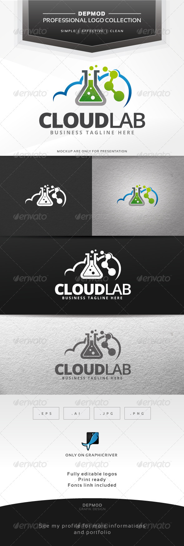 GraphicRiver Cloud Lab Logo 6860043