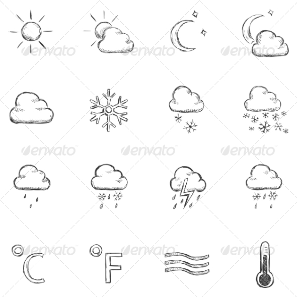 GraphicRiver Weather Icons 6860115