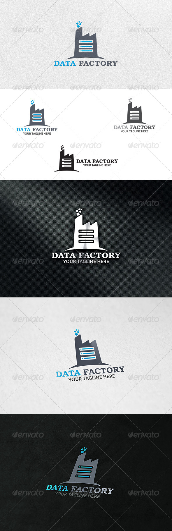 GraphicRiver Data Factory Logo Template 6860254